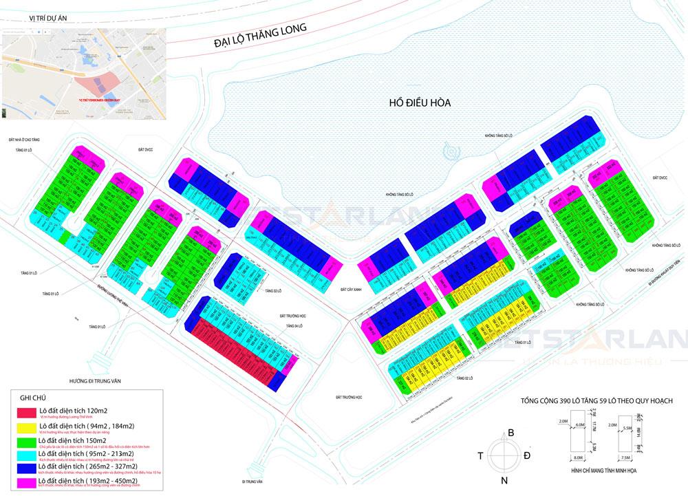 Bản đồ tổng thể Vinhomes Green Bay Mễ Trì